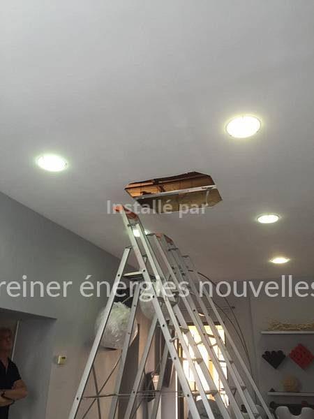 Climatisation encastrée - salon de coiffure Wasselonne