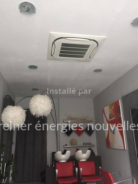 Installation Climatisation salon de coiffure Wasselonne 67310