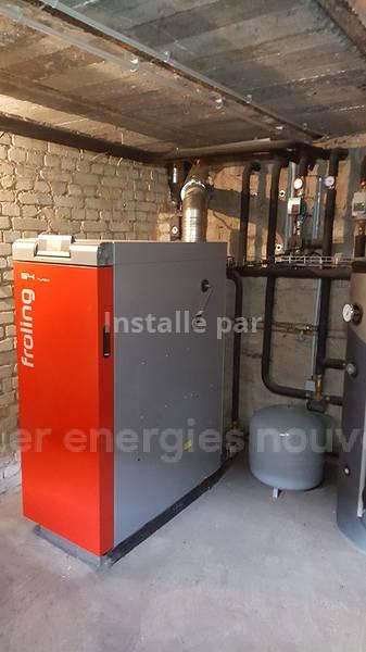 Installation chaudière bois bûches Sturtzelbronn 57230