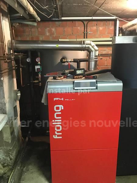 Installation chaudière granulés avec silo de stockage Niederschaeffolsheim 67500