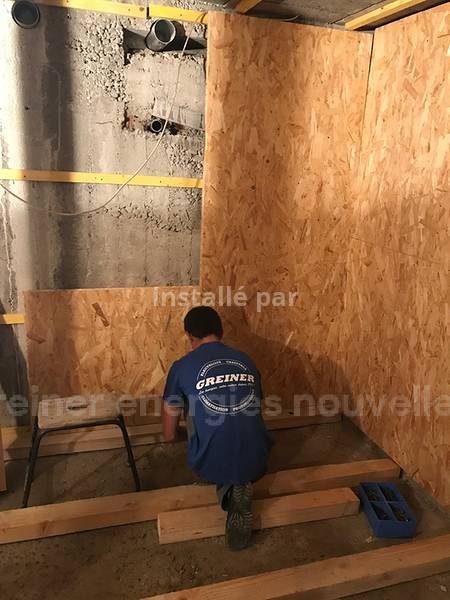 Construction d'un silo pour granulés