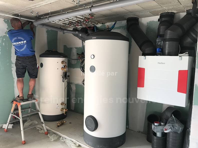 Pompe à chaleur Stiebel Eltron WPL20 utile et VMC double flux Hélios