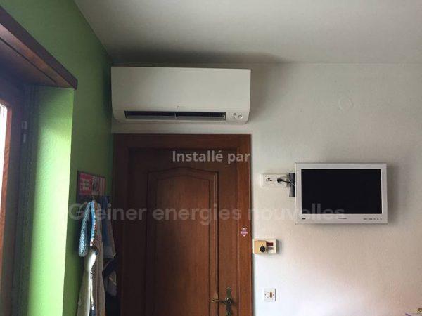 Installation climatisation réversible Lupstein 67490