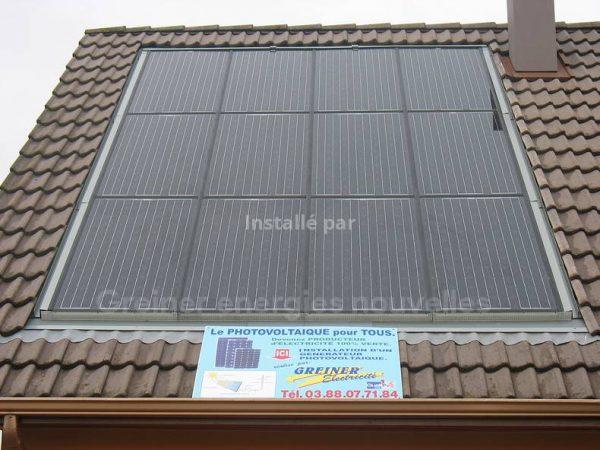 Installation photovoltaïque 2 kWc Brumath 67170