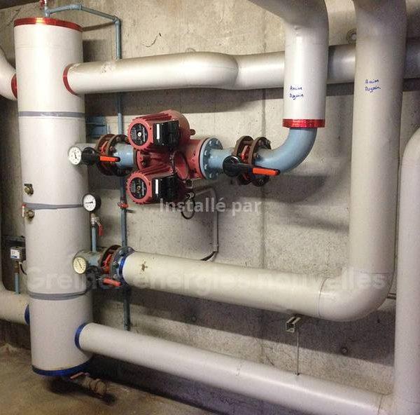 2 Chaudières gaz à haute performance énergétique en parallèle