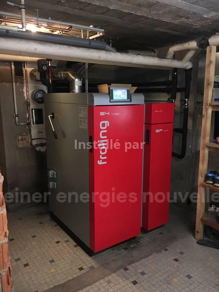 Installation chaudière bois bûches/granulés SPdual Adam Wangenbourg Engenthal 67710