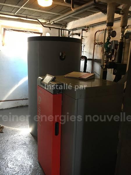 Installation chaudière granulés PE1 Neuwiller les Saverne  67330